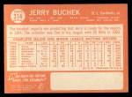 1964 Topps #314  Jerry Buchek  Back Thumbnail
