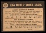 1964 Topps Venezuelan #127   -  Dick Simpson / Aubrey Gatewood  Angels Rookies Back Thumbnail