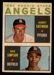 1964 Topps Venezuelan #127   -  Dick Simpson / Aubrey Gatewood  Angels Rookies Front Thumbnail