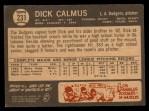 1964 Topps Venezuelan #231  Dick Calmus  Back Thumbnail