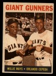 1964 Topps Venezuelan #306   -  Willie Mays / Orlando Cepeda Giants Gunners Front Thumbnail