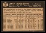 1964 Topps Venezuelan #88  John Roseboro  Back Thumbnail