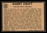 1964 Topps Venezuelan #298  Harry Craft  Back Thumbnail