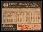1964 Topps Venezuelan #135  Johnny Callison  Back Thumbnail