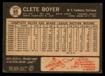1964 Topps Venezuelan #69  Clete Boyer  Back Thumbnail