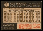 1964 Topps Venezuelan #83  Gus Triandos  Back Thumbnail