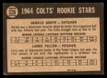 1964 Topps Venezuelan #226   -  Jerry Grote / Larry Yellen  Colt 45s Rookies Back Thumbnail