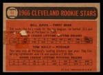 1966 Topps Venezuelan #44   -  Tom Kelley / Bill Davis Indians Rookies Back Thumbnail