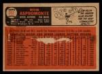 1966 Topps Venezuelan #352  Bob Aspromonte  Back Thumbnail