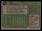 1974 Topps #464  Jose Cruz  Back Thumbnail
