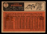 1966 Topps Venezuelan #180  Vada Pinson  Back Thumbnail