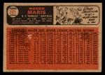 1966 Topps Venezuelan #365  Roger Maris  Back Thumbnail