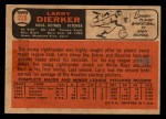 1966 Topps Venezuelan #228  Larry Dierker  Back Thumbnail