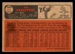 1966 Topps Venezuelan #212  Ed Kranepool  Back Thumbnail