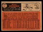 1966 Topps Venezuelan #236  Mike Hershberger  Back Thumbnail