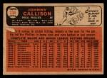 1966 Topps Venezuelan #230  Johnny Callison  Back Thumbnail