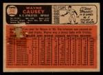 1966 Topps Venezuelan #366  Wayne Causey  Back Thumbnail