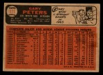 1966 Topps Venezuelan #111  Gary Peters  Back Thumbnail