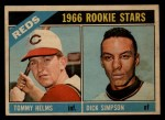 1966 Topps Venezuelan #311   -  Tommy Helms / Dick Simpson Reds Rookies Front Thumbnail