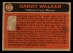 1966 Topps Venezuelan #318  Harry Walker  Back Thumbnail