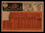 1966 Topps Venezuelan #369  Jim King  Back Thumbnail
