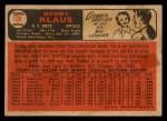 1966 Topps Venezuelan #108  Bobby Klaus  Back Thumbnail