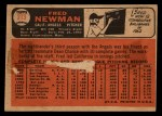 1966 Topps Venezuelan #213  Fred Newman  Back Thumbnail