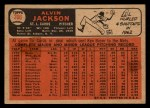 1966 Topps Venezuelan #206  Alvin Jackson  Back Thumbnail