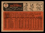 1966 Topps Venezuelan #202  Clay Dalrymple  Back Thumbnail