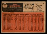 1966 Topps Venezuelan #38  Ron Nischwitz  Back Thumbnail