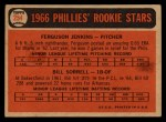 1966 Topps Venezuelan #254   -  Ferguson Jenkins / Bill Sorrell Phillies Rookies Back Thumbnail