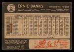 1964 Topps Venezuelan #55  Ernie Banks  Back Thumbnail
