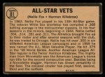 1964 Topps Venezuelan #81   -  Nellie Fox / Harmon Killebrew All-Star Vets Back Thumbnail