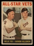1964 Topps Venezuelan #81   -  Nellie Fox / Harmon Killebrew All-Star Vets Front Thumbnail