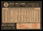 1964 Topps Venezuelan #153  Dick Williams  Back Thumbnail