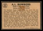 1964 Topps Venezuelan #331   -  Roger Maris / Norm Cash / Mickey Mantle / Al Kaline AL Bombers Back Thumbnail