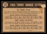 1964 Topps Venezuelan #116   -  Tony Oliva / Jay Ward  Twins Rookies Back Thumbnail
