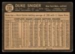 1964 Topps Venezuelan #155  Duke Snider  Back Thumbnail