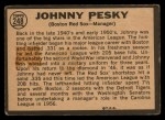 1964 Topps Venezuelan #248  Johnny Pesky  Back Thumbnail