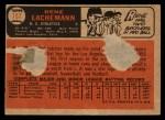 1966 Topps Venezuelan #157  Rene Lachemann  Back Thumbnail
