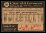 1964 Topps Venezuelan #186  Roman Mejias  Back Thumbnail