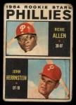 1964 Topps Venezuelan #243   -  Rich Allen / John Herrnstein  Phillies Rookies Front Thumbnail