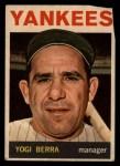 1964 Topps Venezuelan #21  Yogi Berra  Front Thumbnail