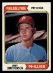 1974 Topps #587  Larry Christenson  Front Thumbnail