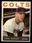 1964 Topps #23  Chris Zachary  Front Thumbnail