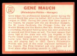 1964 Topps #157  Gene Mauch  Back Thumbnail