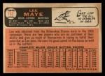 1966 Topps #162  Lee Maye  Back Thumbnail