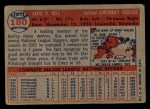 1957 Topps #180  Gus Bell  Back Thumbnail