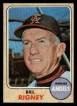 1968 Topps #416  Bill Rigney  Front Thumbnail