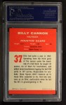 1963 Fleer #37  Billy Cannon  Back Thumbnail